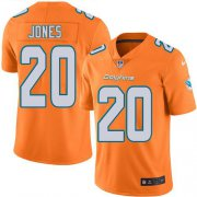 Wholesale Cheap Nike Dolphins #20 Reshad Jones Orange Men's Stitched NFL Limited Rush Jersey