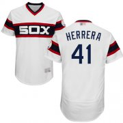 Wholesale Cheap White Sox #41 Kelvin Herrera White Flexbase Authentic Collection Alternate Home Stitched MLB Jersey