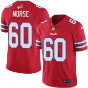 Wholesale Cheap Nike Bills #60 Mitch Morse Red Men's Stitched NFL Elite Rush Jersey