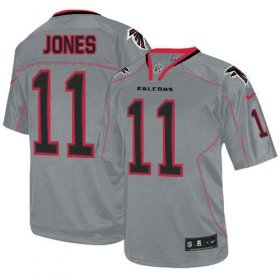 Wholesale Cheap Nike Falcons #11 Julio Jones Lights Out Grey Men\'s Stitched NFL Elite Jersey