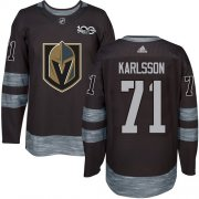 Wholesale Cheap Adidas Golden Knights #71 William Karlsson Black 1917-2017 100th Anniversary Stitched NHL Jersey