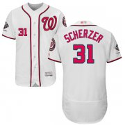 Wholesale Cheap Nationals #31 Max Scherzer White Flexbase Authentic Collection 2019 World Series Champions Stitched MLB Jersey