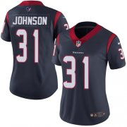 Wholesale Cheap Nike Texans #31 David Johnson Navy Blue Team Color Women's Stitched NFL Vapor Untouchable Limited Jersey