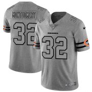 Wholesale Cheap Chicago Bears #32 David Montgomery Men's Nike Gray Gridiron II Vapor Untouchable Limited NFL Jersey