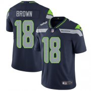 Wholesale Cheap Nike Seahawks #18 Jaron Brown Steel Blue Team Color Men's Stitched NFL Vapor Untouchable Limited Jersey