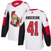 Wholesale Cheap Adidas Senators #41 Craig Anderson White Road Authentic Stitched NHL Jersey