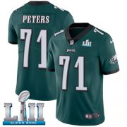 Wholesale Cheap Nike Eagles #71 Jason Peters Midnight Green Team Color Super Bowl LII Men's Stitched NFL Vapor Untouchable Limited Jersey