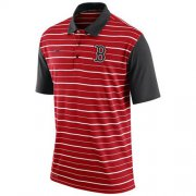 Wholesale Cheap Men's Boston Red Sox Nike Red Dri-FIT Stripe Polo
