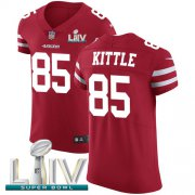 Wholesale Cheap Nike 49ers #85 George Kittle Red Super Bowl LIV 2020 Team Color Men's Stitched NFL Vapor Untouchable Elite Jersey