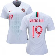 Wholesale Cheap Women's Portugal #19 Mario Rui Away Soccer Country Jersey
