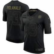 Cheap Pittsburgh Steelers #43 Troy Polamalu Nike 2020 Salute To Service Retired Limited Jersey Black