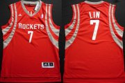 Wholesale Cheap Houston Rockets #7 Jeremy Lin Revolution 30 Swingman Red Jersey