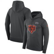 Wholesale Cheap NFL Men's Chicago Bears Nike Anthracite Crucial Catch Performance Pullover Hoodie