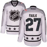 Wholesale Cheap Hurricanes #27 Justin Faulk White 2017 All-Star Metropolitan Division Women's Stitched NHL Jersey