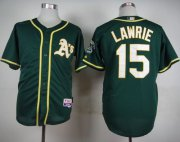Wholesale Cheap Athletics #15 Brett Lawrie Green Cool Base Stitched MLB Jersey