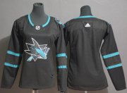 Wholesale Cheap Adidas Sharks Blank Black Alternate Authentic Stitched Youth NHL Jersey