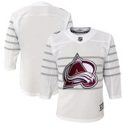 Wholesale Cheap Youth Colorado Avalanche White 2020 NHL All-Star Game Premier Jersey