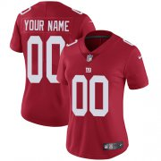 Wholesale Cheap Nike New York Giants Customized Red Alternate Stitched Vapor Untouchable Limited Women's NFL Jersey