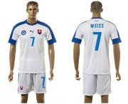 Wholesale Cheap Slovakia #7 Weiss Home Soccer Country Jersey