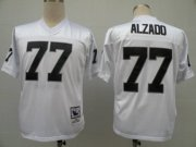 Wholesale Cheap Mitchell and Ness Raiders #77 Lyle Alzado White Stitched Throwback NFL Jersey