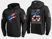 Wholesale Cheap Coyotes #25 Nick Cousins NHL Banner Wave Usa Flag Black Hoodie