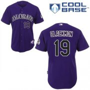 Wholesale Cheap Rockies #19 Charlie Blackmon Purple Cool Base Stitched Youth MLB Jersey
