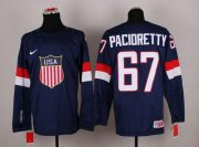 Wholesale Cheap 2014 Olympic Team USA #67 Max Pacioretty Navy Blue Stitched NHL Jersey
