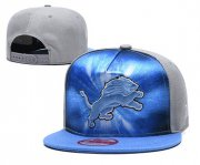 Wholesale Cheap Lions Team Logo Brown Royal Gray Adjustable Leather Hat TX