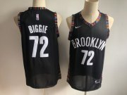 Wholesale Cheap Brooklyn Nets 72 Biggie Black City Edition Nike Swingman Jersey