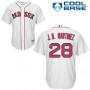 Wholesale Cheap Red Sox #28 J. D. Martinez White New Cool Base Stitched MLB Jersey