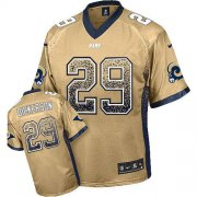 Wholesale Cheap Nike Rams #29 Eric Dickerson Gold Men's Stitched NFL Elite Drift Fashion Jersey