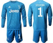 Wholesale Cheap Juventus #1 Szczesny Third Long Sleeves Soccer Club Jersey