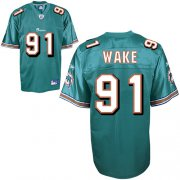 Wholesale Cheap Dolphins #91 Cameron Wake Green Stitched NFL Jersey