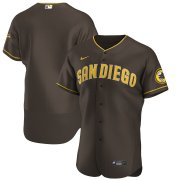 Wholesale Cheap San Diego Padres Men's Nike Brown Authentic Alternate Team MLB Jersey