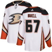 Wholesale Cheap Adidas Ducks #67 Rickard Rakell White Road Authentic Stitched NHL Jersey