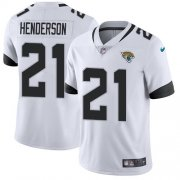 Wholesale Cheap Nike Jaguars #21 C.J. Henderson White Men's Stitched NFL Vapor Untouchable Limited Jersey