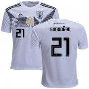 Wholesale Cheap Germany #21 Gundogan White Home Kid Soccer Country Jersey