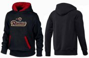 Wholesale Cheap Los Angeles Rams Authentic Logo Pullover Hoodie Black & Red