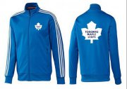 Wholesale Cheap NHL Toronto Maple Leafs Zip Jackets Blue-3
