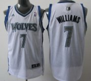 Wholesale Cheap Minnesota Timberwolves #7 Derrick Williams White Swingman Jersey
