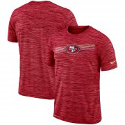 Wholesale Cheap San Francisco 49ers Nike Sideline Velocity Performance T-Shirt Heathered Scarlet