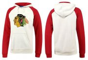 Wholesale Cheap Chicago Blackhawks Pullover Hoodie White & Red
