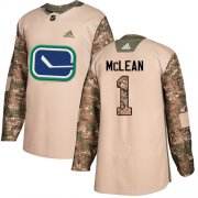 Wholesale Cheap Adidas Canucks #1 Kirk Mclean Camo Authentic 2017 Veterans Day Stitched NHL Jersey