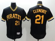 Wholesale Cheap Pirates #21 Roberto Clemente Black Flexbase Authentic Collection Cooperstown Stitched MLB Jersey