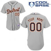Wholesale Cheap Tigers Personalized Authentic Grey MLB Jersey (S-3XL)