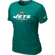 Wholesale Cheap Women's Nike New York Jets Critical Victory NFL T-Shirt Light Green