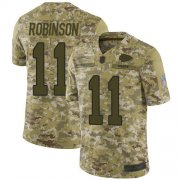 Wholesale Cheap Nike Chiefs #11 Demarcus Robinson Camo Youth Stitched NFL Limited 2018 Salute to Service Jersey
