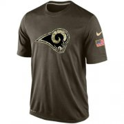 Wholesale Cheap Men's Los Angeles Rams Salute To Service Nike Dri-FIT T-Shirt