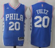 Wholesale Cheap Men's 2017 Draft Philadelphia 76ers #20 Markelle Fultz Blue Stitched NBA adidas Revolution 30 Swingman Jersey