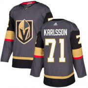 Wholesale Cheap Adidas Golden Knights #71 William Karlsson Grey Home Authentic Stitched NHL Jersey